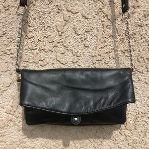 BAGGS Leather Convertible Clutch/Crossbody NWOT